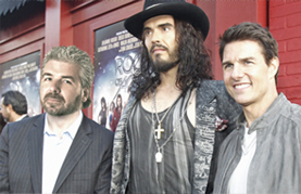 Vern with Russell Brand and Tom Cruise